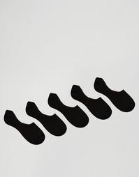 5 пар носков из вафельного трикотажа ASOS - Черный