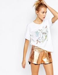 Oversize-футболка с принтом спереди Puma X Swash - Белый