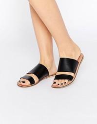 Кожаные сандалии без задника ASOS FIREBALL - Черный