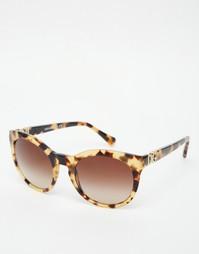 Круглые солнцезащитные очки Dolce & Gabbana - Черепаховый