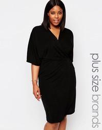 Платье миди с запахом спереди Club L Plus - Черный