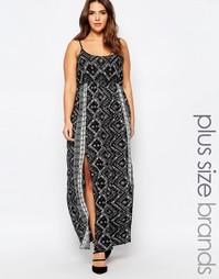 Платье макси с разрезом сбоку Diya Plus