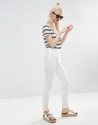 Зауженные брюки с завышенной талией и разрезами спереди ASOS