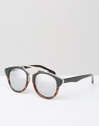 Солнцезащитные очки в черной оправе без переносицы Jeepers Peepers