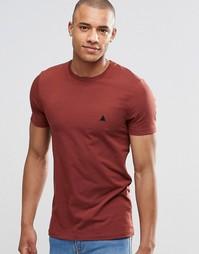 Красная футболка с круглым вырезом и логотипом ASOS - Hot spice