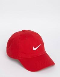 Красная кепка с галочкой Nike 546126-658 - Красный