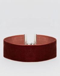 Широкое бархатное ожерелье‑чокер ASOS - Mink
