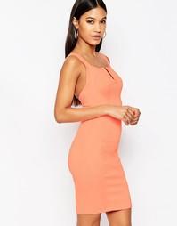 Бандажное платье мини с V‑образным вырезом WOW Couture