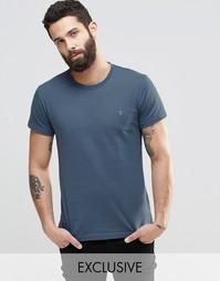 Синяя футболка слим с логотипом F Farah - Синий