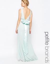Свадебное платье макси с сатиновым бантом сзади TFNC Petite - Мятный