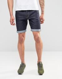 Прямые джинсовые шорты с необработанным краем Jack & Jones