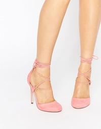 Туфли на высоком каблуке со шнуровкой ASOS PERSEVERE - Розовый