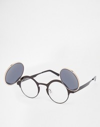Круглые солнцезащитные очки с затемняющими клапанами Spitfire Techno