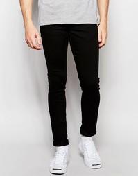 Зауженные черные джинсы стретч Solid - Черный