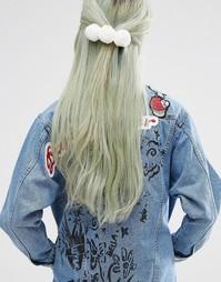 Заколка для волос ограниченной серии с помпоном - Белый Asos