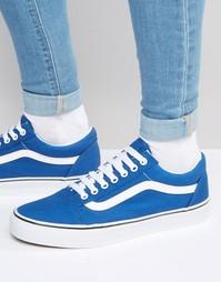Синие парусиновые кроссовки Vans Old Skool V3Z6IP1 - Синий
