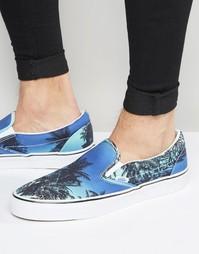 Синие кеды-слипоны Vans Island V3Z4IX4 - Синий