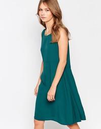 Цельнокройное платье без рукавов Vila - Изумрудно-зеленый