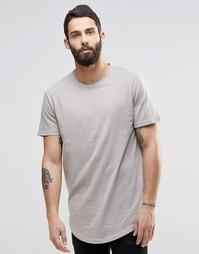 Удлиненная футболка с широкой горловиной Only & Sons - Crockery