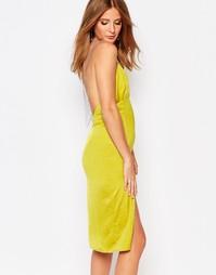 Платье-сорочка с бретельками из бусин Millie Mackintosh - Желтый