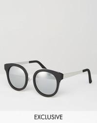 Солнцезащитные очки с серебристыми стеклами Quay Australia Brooklyn