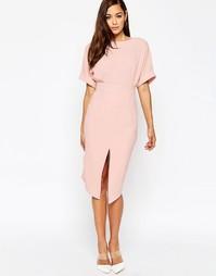 Платье с разрезом спереди ASOS - Blush