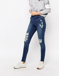 Облегающие джинсы с завышенной талией Waven Anika - Насыщенный синий