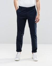 Хлопковые брюки суперзауженного кроя Vito - Темно-синий