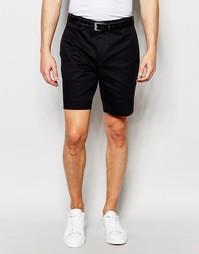 Зауженные шорты чиносы в строгом стиле ASOS - Черный
