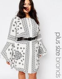 Свободное платье размера плюс с принтом Missguided - Белый