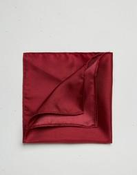 Шелковый платок для пиджака винного цвета ASOS Wedding - Burgundy