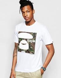 Базовая футболка с камуфляжным принтом AAPE By A Bathing Ape - Белый