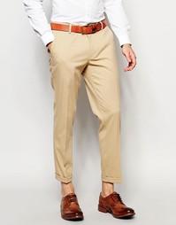 Зауженные укороченные брюки ASOS - Кэмел
