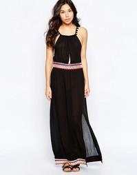 Пляжное платье макси с зеркальной отделкой Liquorish - Черный