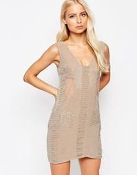 Расшитое бисером платье Walter Baker Toni