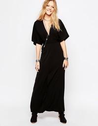 Платье миди с поясом Glamorous - Черный