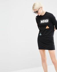 Платье мини с забавными нашивками Cheap Monday - Черный