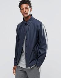 Синяя спортивная куртка со съемным капюшоном Rains - Синий