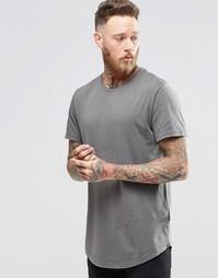 Удлиненная футболка с широкой горловиной Only & Sons - Brushed nickel