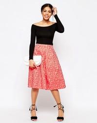 Жаккардовая юбка для выпускного Traffic People - Красный