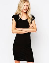 Черное платье с рукавами-бабочка Blend She Jill - Черный