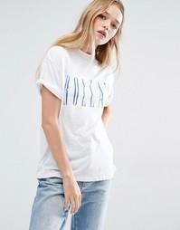 Свободная футболка с логотипом Rolla's - Белый Rollas