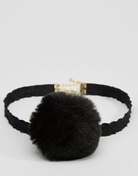 Ожерелье-чокер ограниченной серии с помпонами - Черный Asos