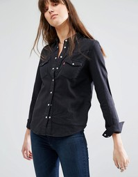 Джинсовая рубашка в стиле вестерн Levi's - Черные чернила Levi's®