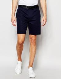 Зауженные шорты чиносы в строгом стиле ASOS - Темно-синий