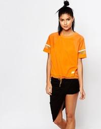 Oversize-футболка с отделкой на талии Nike - Оранжевый