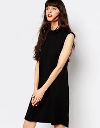 Трикотажное платье-трапеция Just Female - Черный