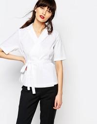 Рубашка с запахом спереди Just Female Gareth - Белый