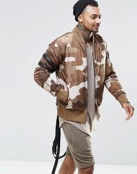 Камуфляжная куртка-пилот с ремешками Other UK - Хаки