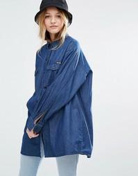 Джинсовая oversize‑рубашка Rolla's - Выбеленный синий Rollas